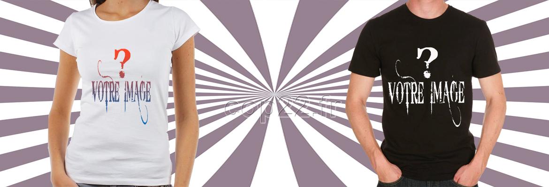 tee-shirt peronnalisable avec votre visuel pour  homme, femme ou enfant