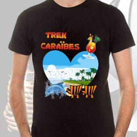 tee-shirt homme trek caraîbes