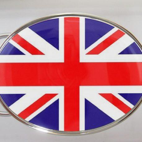 BOUCLE DE CEINTURE OVALE drapeau anglais