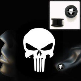 écarteur tunnel acrylique tête de mort