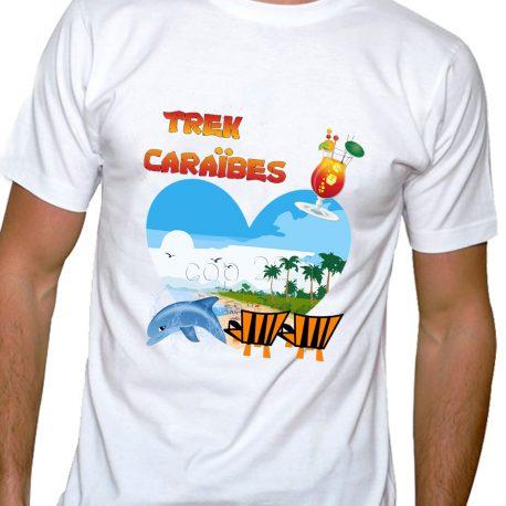 tee-shirt homme trek caraïbes
