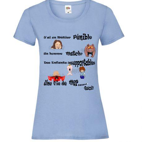 tee-shirt-bleu-ciel-femme-femme-mécontente-COP22