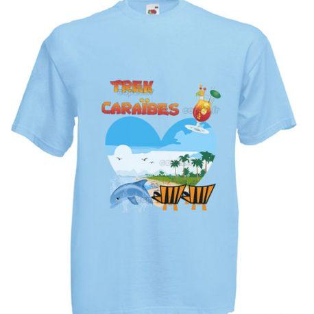 Tee-shirt bleu ciel HOMME: TREK CARAÏBES