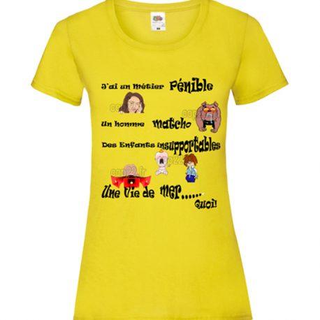 tee-shirt-jaune-femme-femme-mécontente-COP22