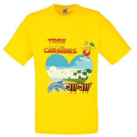 tee-shirt jaune HOMME: TREK CARAÏBES