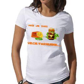 tee-shirt moi je suis végétarienne